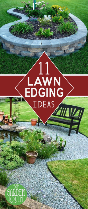 Check out these 11 beautiful lawn edging ideas