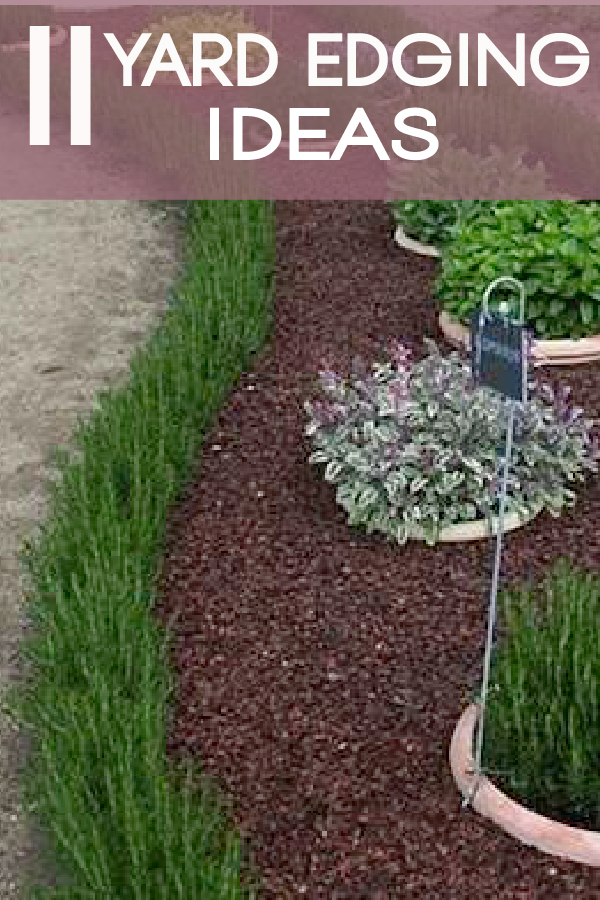 Check out these great lawn and yard edging ideas.  This is a great DIY project that will improve your home quickly!