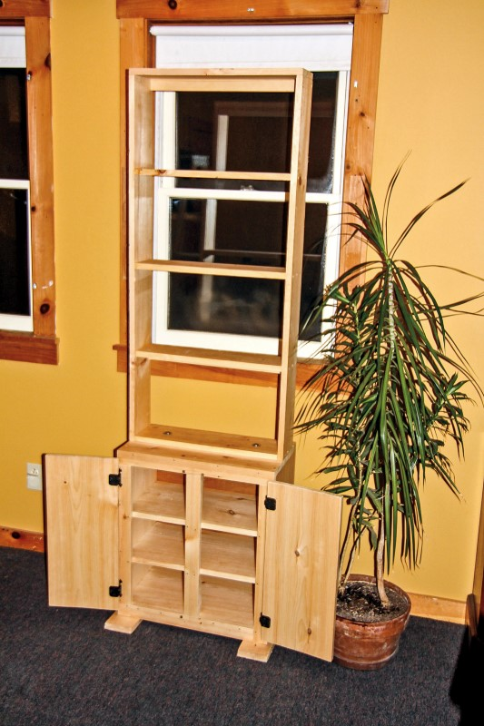 Build an indoor garden shelf