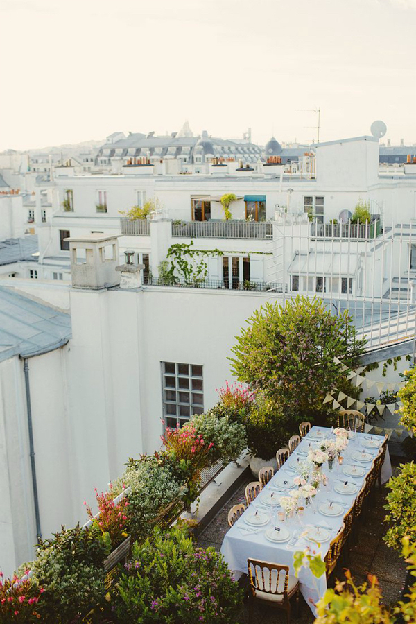 amazing urban garden rooftop garden in Paris