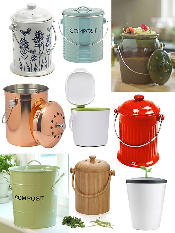 Attractive Compost Pails I wouldn't mind having in my kitchen!