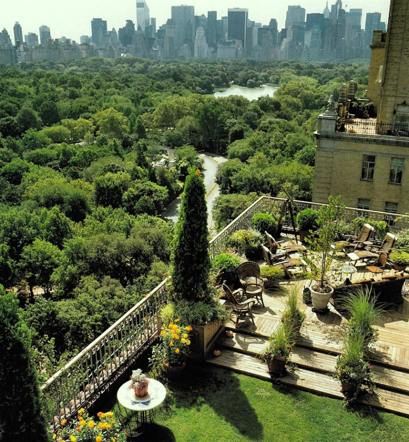 magnificent penthouse garden overlooking central park via markosun blog