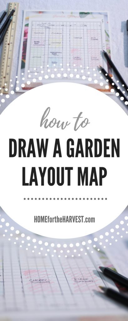How to Draw a Garden Layout Map | Home for the Harvest