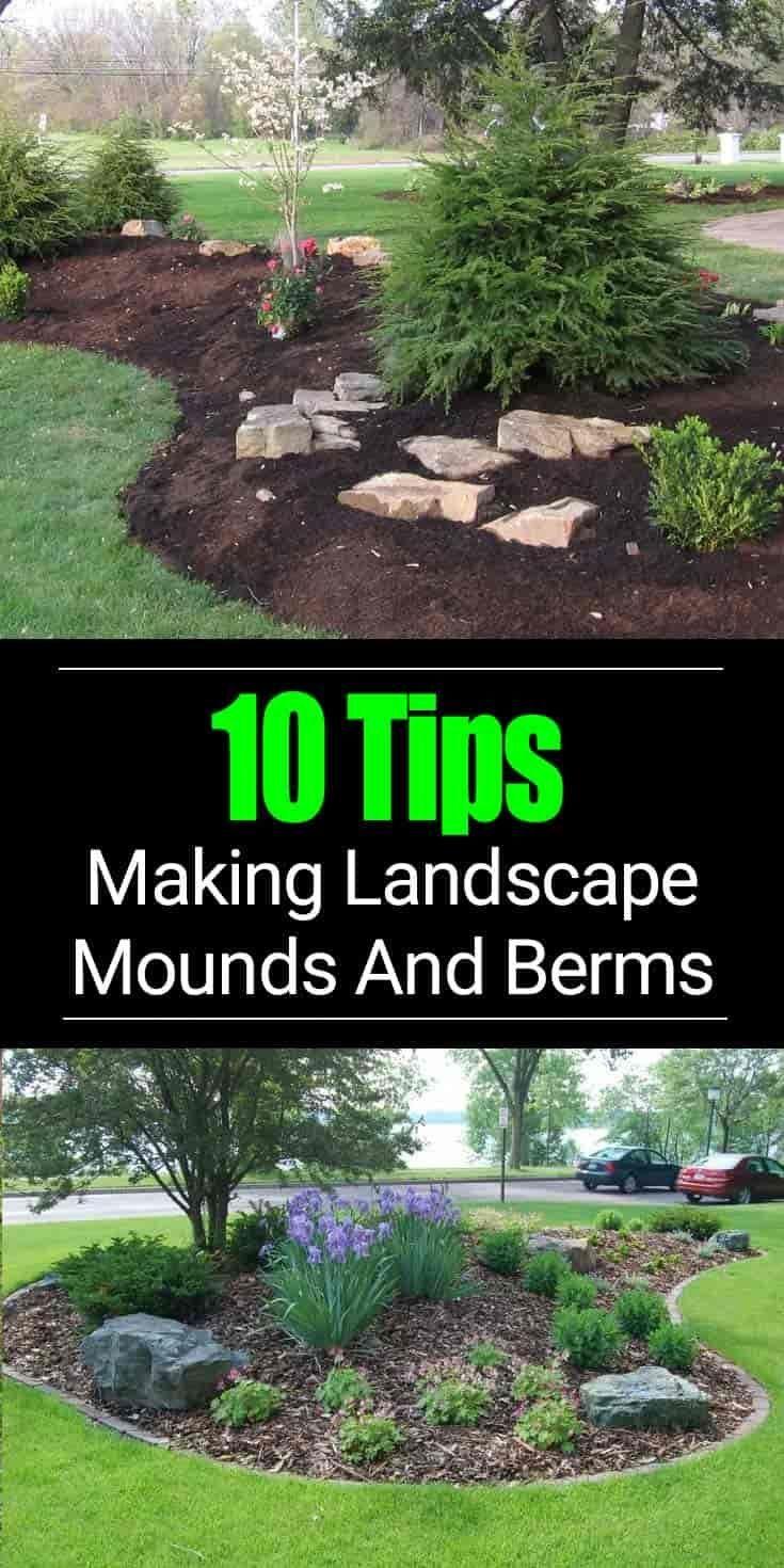 building a berm or landscape mounds