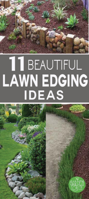 Check out these 11 beautiful lawn edging ideas!
