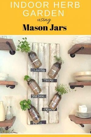 mason jar indoor herb garden/ grillo designs www.grillo-designs.com