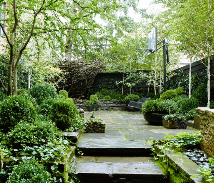Julianne Moore NYC Garden