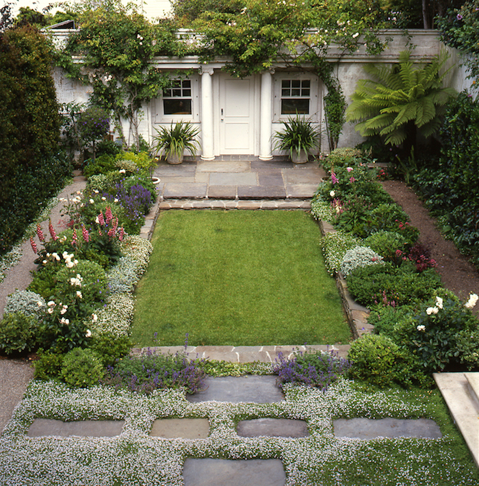 elizabeth everdell garden design - charming pacifici heights backyard small garden